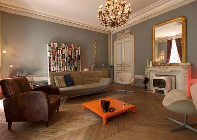 bed & breakfast chateau saint etienne - salon
